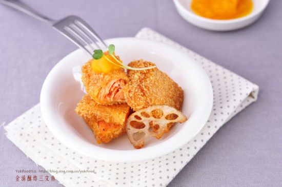 金汤酥炸三文鱼