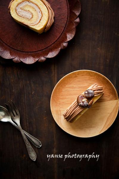 蒙布朗蛋糕卷