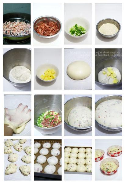 培根香葱肉松包