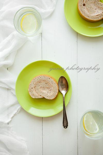 红豆蛋糕卷