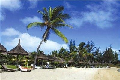 度假酒店的沙滩。孙伟业摄