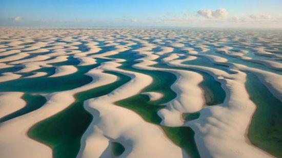 绸带状的沙丘