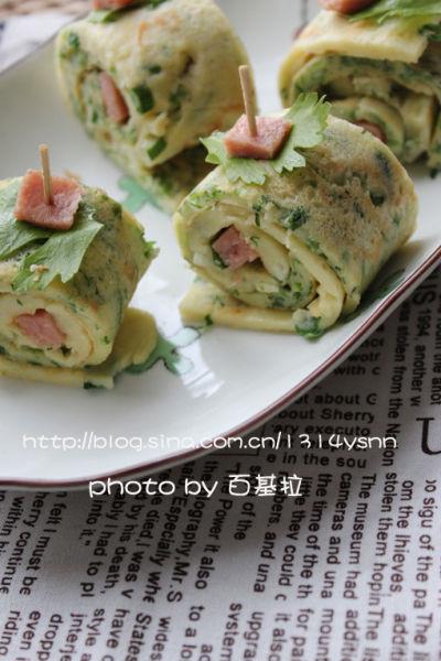 蛋香芹菜双色卷