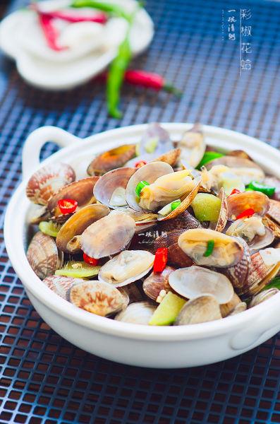 美味彩椒花蛤