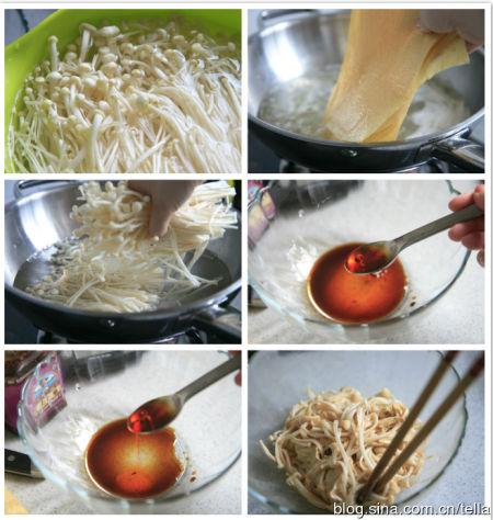 酸辣金针菇