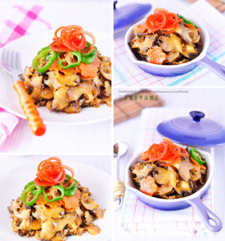 海鲜炝炒海螺