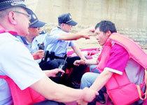 济南男子跳黄河漂1公里捡回命