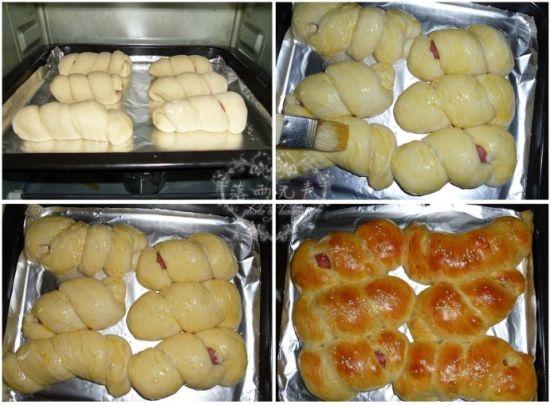 热狗肠面包卷