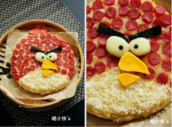 愤怒的小鸟披萨