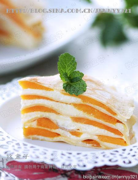 法式芒果千层蛋糕