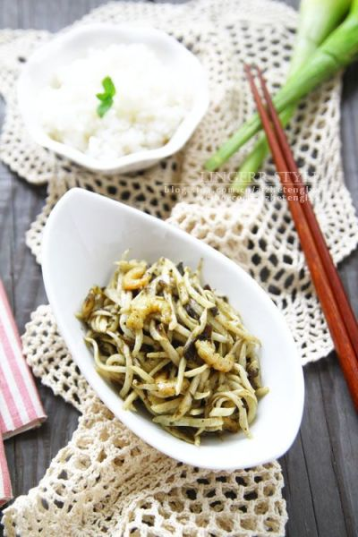 榄菜煸茭白