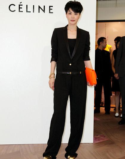黑色西装连体裤