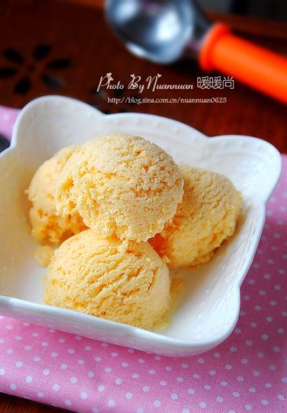 自制木瓜冰淇淋