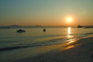鼓浪屿别墅码头的日落(2012年最后一天的夕阳)