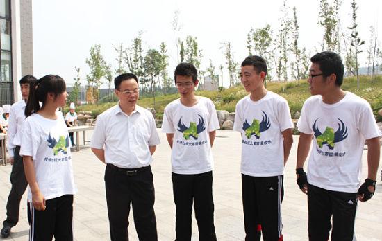山东省副省长孙伟先生与院校学生沟通