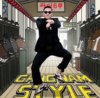"""""""江南style""""中鸟叔上演的著名骑马舞"""