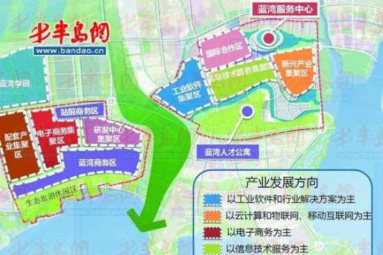 青岛软件科技城空间布局规划图。