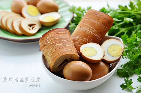熏鸡蛋&熏豆皮