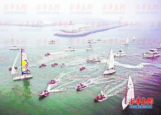 ▲ 王祥胜操控航模航拍的帆船赛。(王祥胜供图)