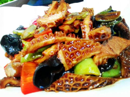 热菜——腊八蒜炒牛肚