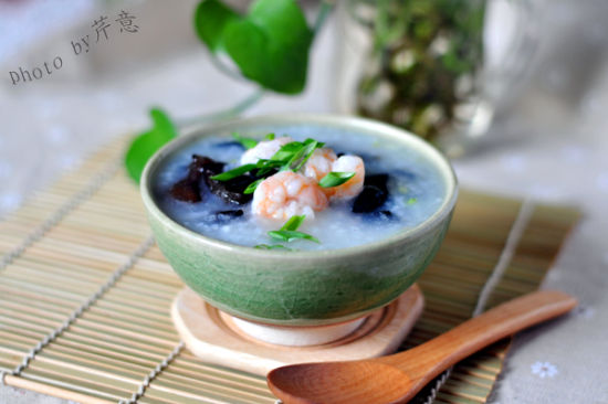 木耳鲜虾粥