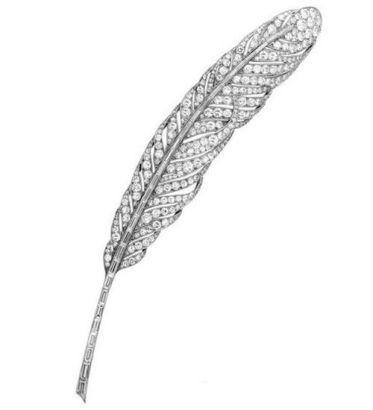 梵克雅宝钻石羽毛胸针