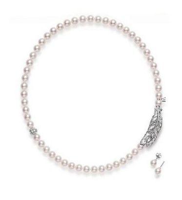 MIKIMOTO Akoya珍珠钻石项链