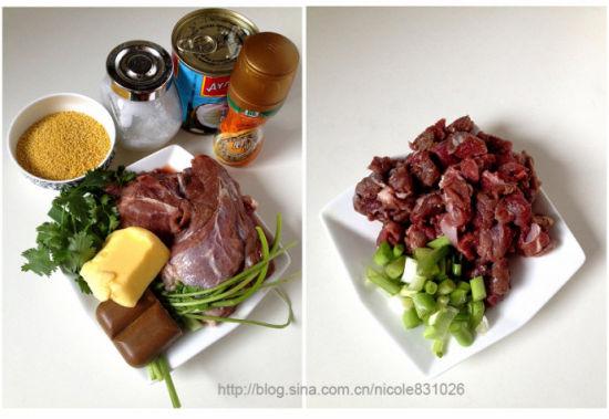 葱香牛肉烩小米