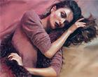 超模出镜《Vogue》大片丝绸皮草极致诱惑
