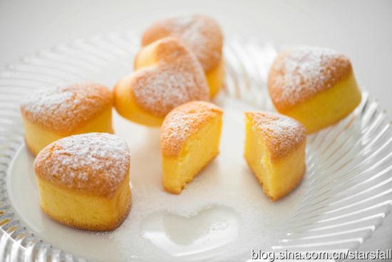 心形海绵小蛋糕