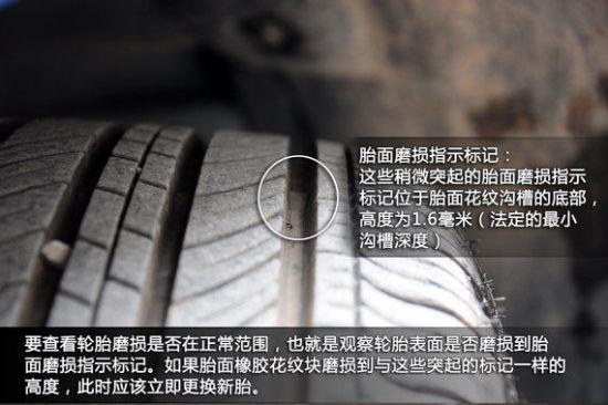 检查轮胎磨损情况