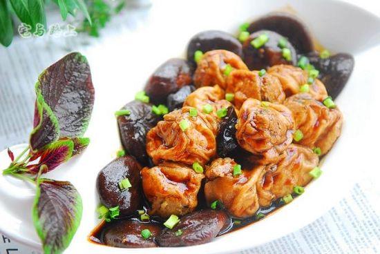 红烧香菇肉酿油面筋