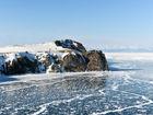 俄罗斯贝加尔湖冬日美景照