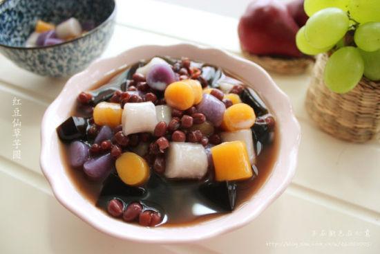 红豆仙草芋圆