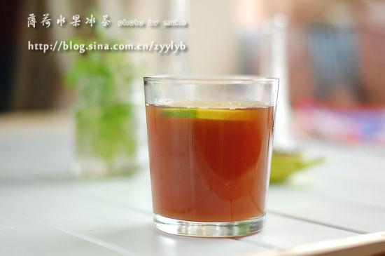 薄荷水果冰茶
