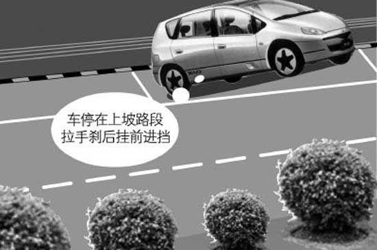 坡道停车可是技术活
