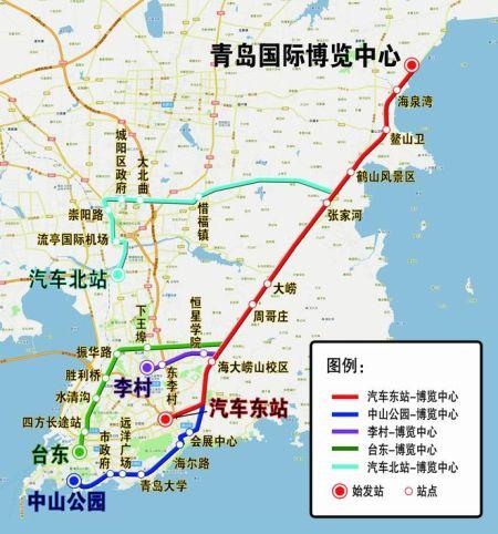 青岛国际博览中心交通图