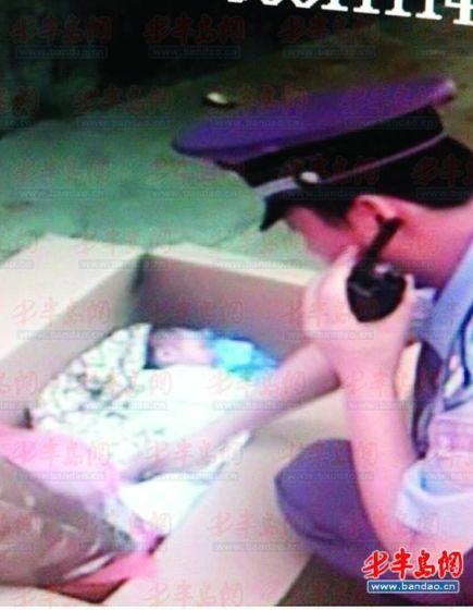 民警发现被弃男婴