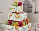 美味艺术品手绘多层婚礼蛋糕