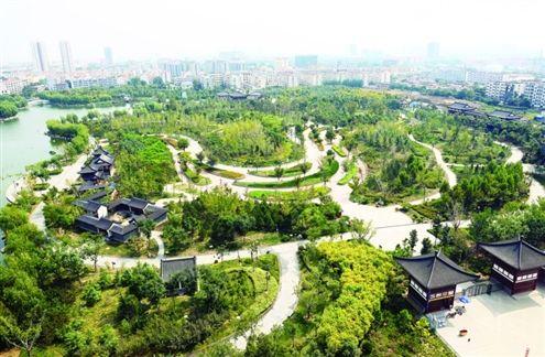 南池公园植物景观图