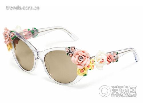 透明装饰花朵墨镜 Dolce&Gabbana 新品未定价