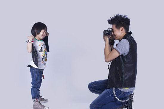 林志颖与儿子Kimi