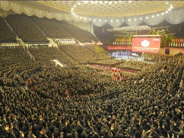 朝鲜两万连长大会