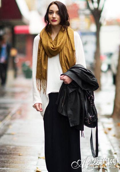 冬季百搭温暖围巾针织衫