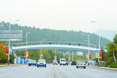 佛慧桥(暂定名)从24日开始进入试运行阶段,这是本月19日拍摄的照片