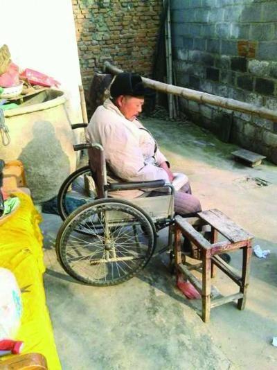 老人已瘫痪。图片取自网络