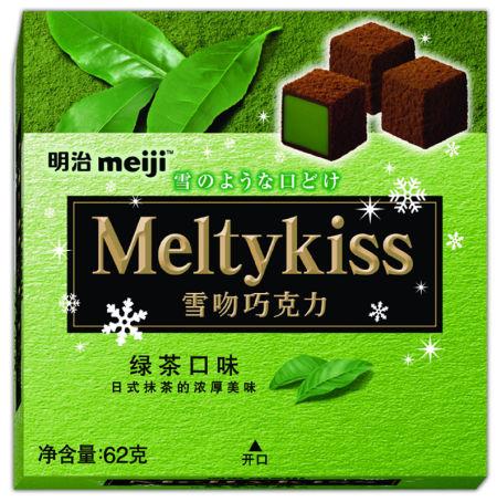 明治雪吻绿茶62g