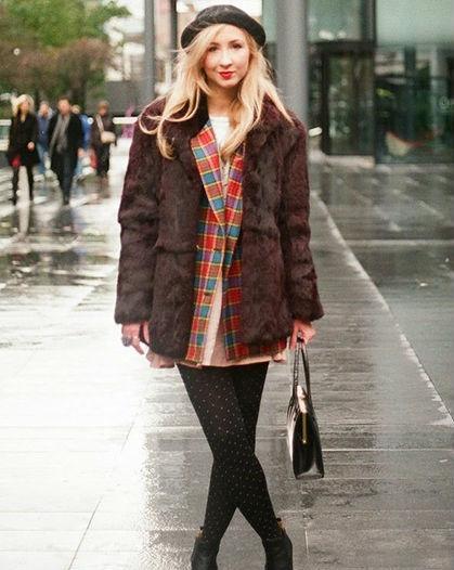 冬季最佳造型 连衣裙mix大衣