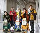 韩团EXO-K拍写真明朗笑容天真可爱