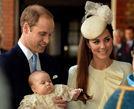 乔治王子洗礼大眼浑圆威廉凯特喜笑颜开